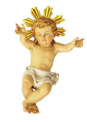 Jesukind holzgeschnitzt und farbig gefasst