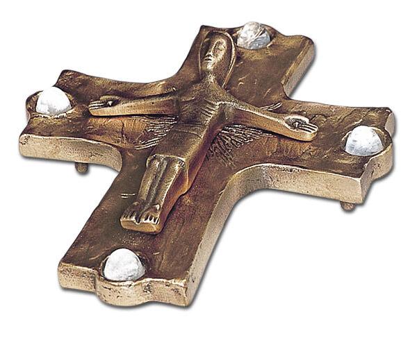 Altarliegekreuz mit 4 Bergkristallen