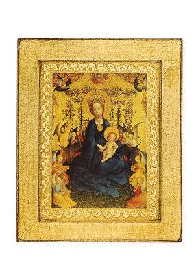 Ikone Kunstdruck: Madonna im Rosenhag