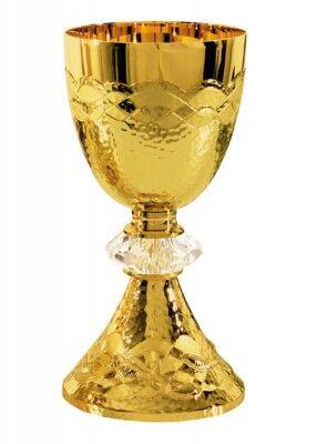 Kelch mit eucharistischer Symbolik