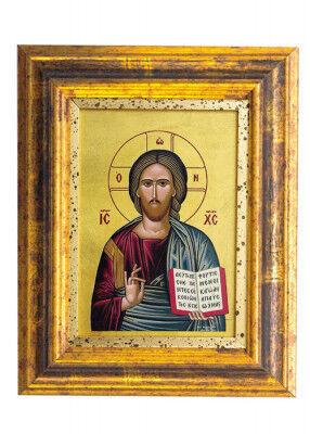 Siebdruckikone: Christus Pantokrator