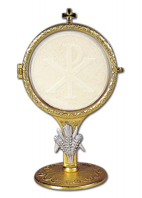 Ostensorium mit Ährensymbol: 15 cm hoch