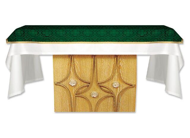 Altartuch aus grünem Brokatgewebe