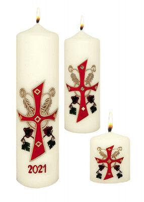 Tischosterkerzen mit eucharistischer Darstellung