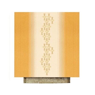 Altartuch mit goldgestickten Kreuzen