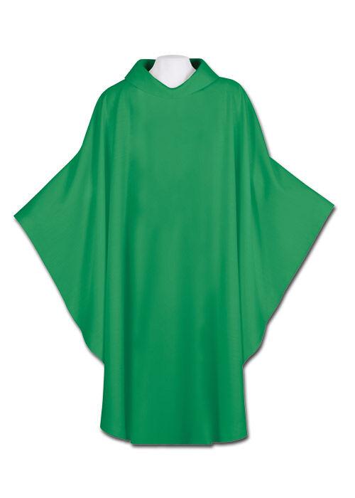 Grüne Kasel aus Wolltrevira