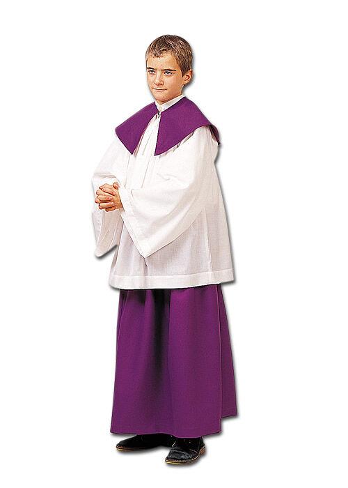 Ministrantenrock mit Rundkragen, violett