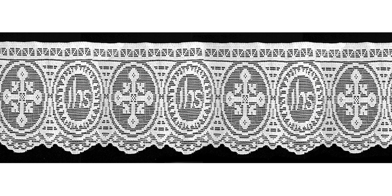 Altarspitze mit IHS-Muster