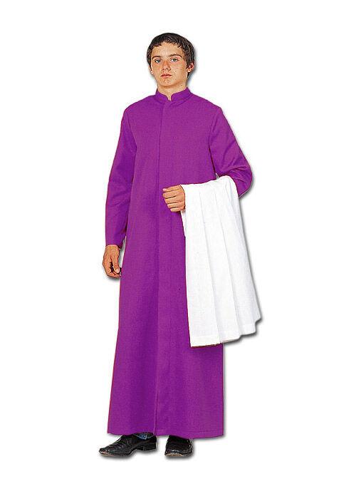 Ministrantentalar mit Ärmeln, violett