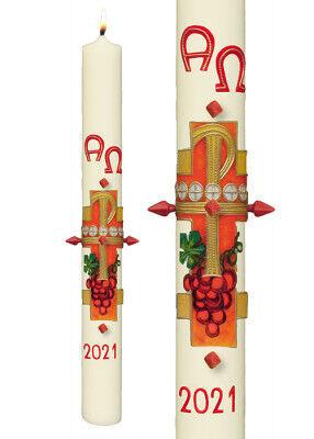 Osterkerze: moderne Interpretation der eucharistischen Motive