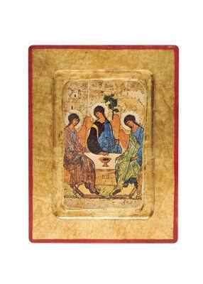Ikonendruck auf Holz: Heilige Dreifaltigkeit
