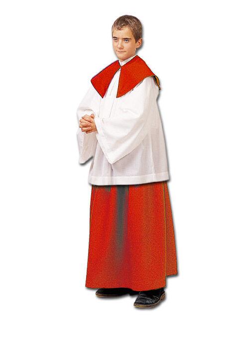Ministrantenrock mit Rundkragen, rot