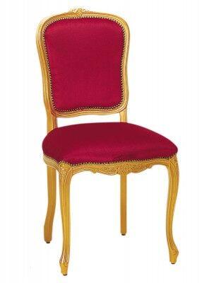 Stuhl mit vergoldeter Oberfläche