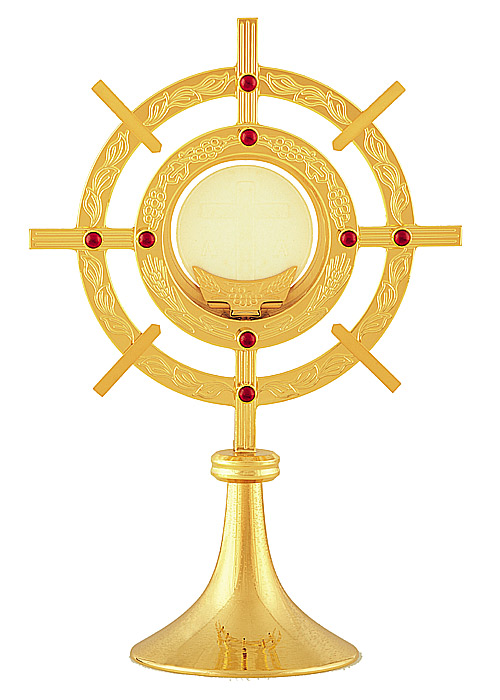 Großes Ostensorium mit ziseliertem Ornament: