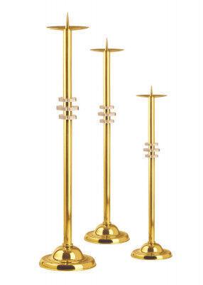Standleuchter aus Messing in den Größen 60, 50 und 40 cm