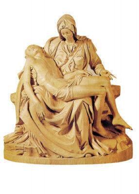Pietà holzgeschnitzt, nach Michelangelo: 80 cm hoch