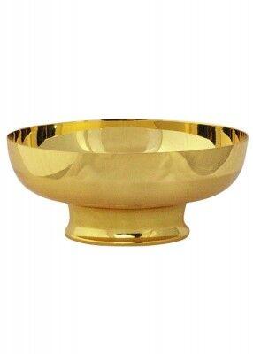 Hostienschale matt und glänzend vergoldet
