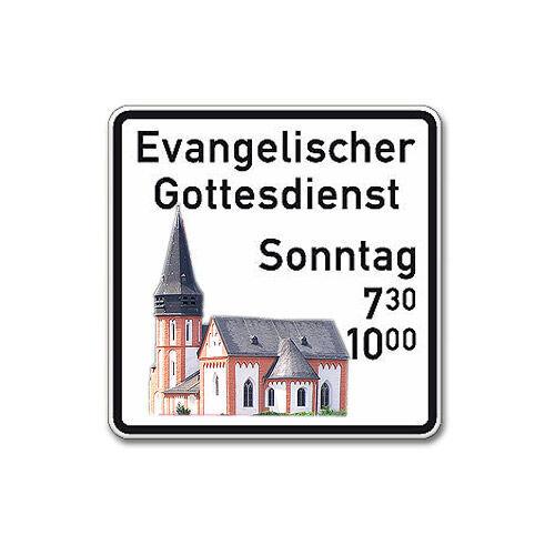 Sonderschild mit Darstellung Ihrer Kirche