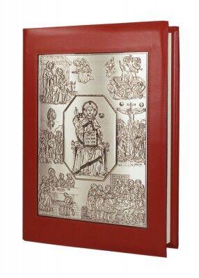 Evangeliar-Einband mit versilberter Reliefplatte