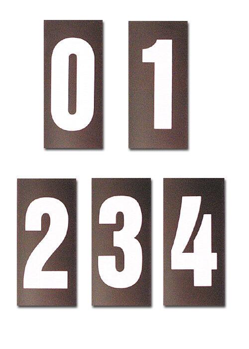 Magnetnummern in schwarz