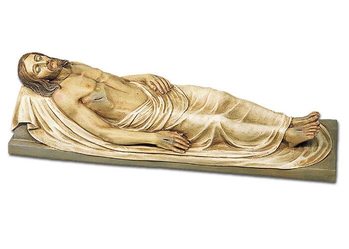 Heilig-Grab-Christus aus farbig gefasstem Kunststoff
