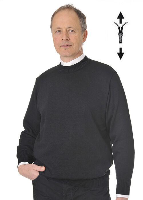 Pullover mit Reißverschluss auf Schulter