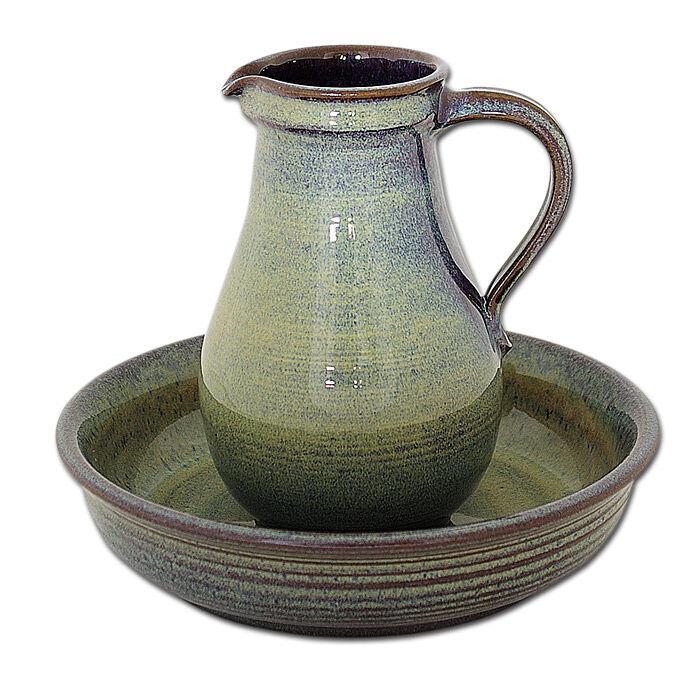 Taufgarnitur aus Keramik: Teller 24 cm Ø