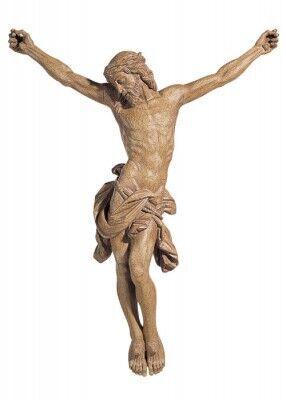 Christus-Corpus aus Kunststoff, in Holztönung
