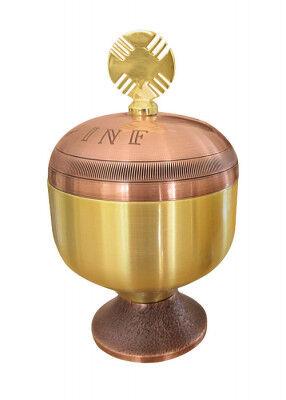 Ölgefäß INF bronziert und vergoldet