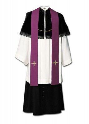 Priesterkragen ohne Fransen (hier mit Fransen gezeigt)