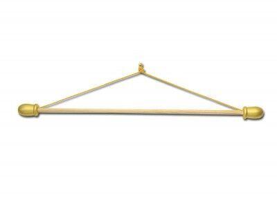 Fahnen-Querstange mit goldfarbigen Abschlüssen