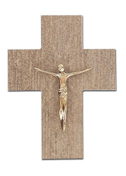 Kleines Wandkreuz aus Feinstein: 12 cm