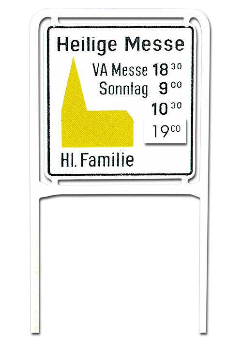 Deckplatte für Zusatzinformationen