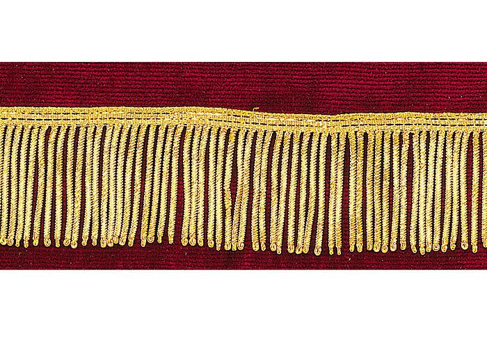 Bouillonfransen vergoldet: lieferbar in 4 und 5 cm Breite