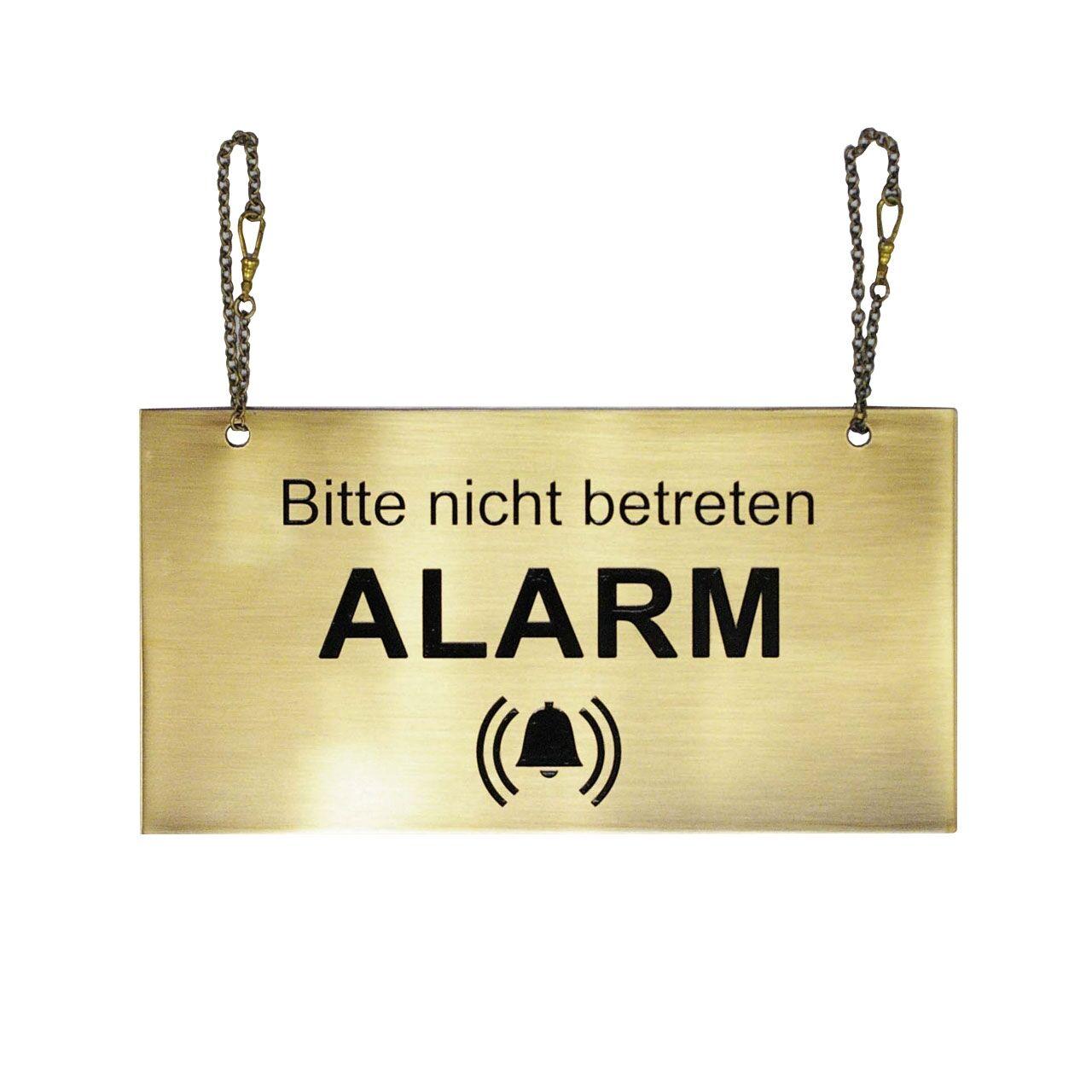 Alarmschild: Bitte nicht betreten!