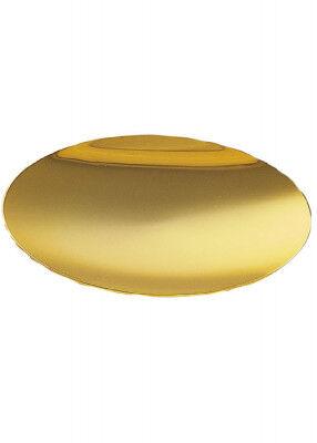 Flach gewölbte Patene, vergoldet