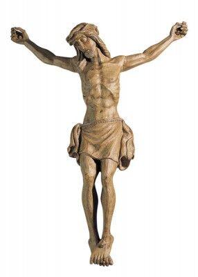 Christus-Corpus aus Kunststoff, Holztönung