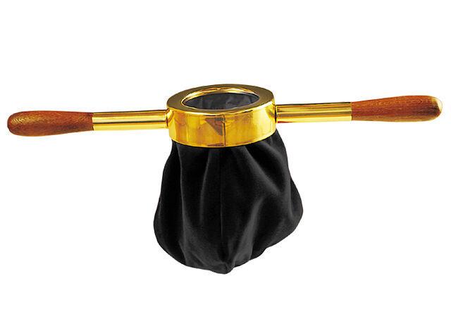 Klingelbeutel aus schwarzem Samt