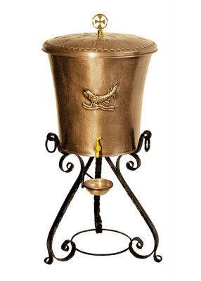 Weihwasserbehälter aus Kupfer: 48 l