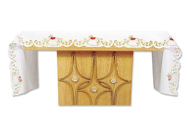 Festliche Altardecke mit Osterlamm