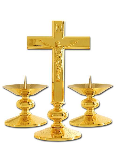 Altarleuchter mit passendem Altarkreuz