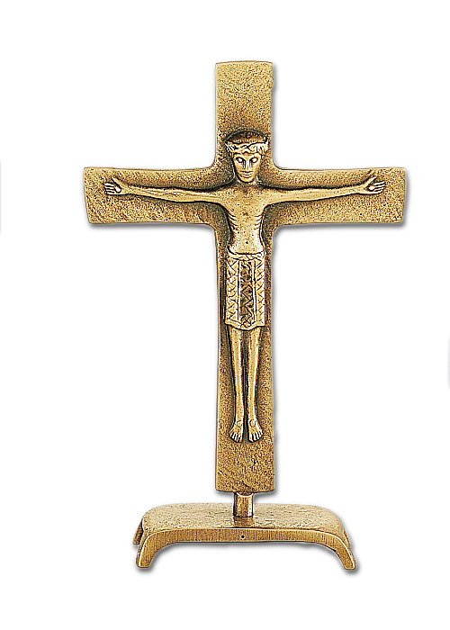 Altarstehkreuz aus Bronze: 21 cm