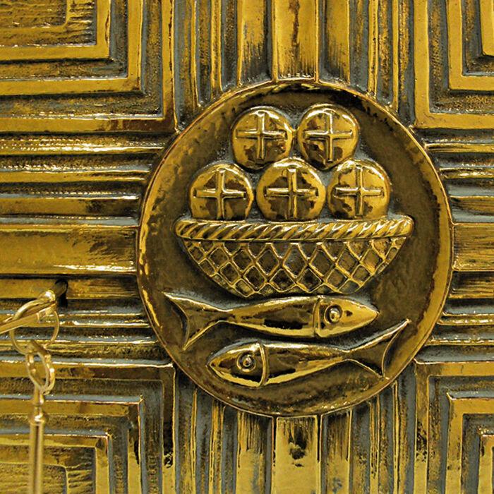 Detailansicht des Eucharistie-Symbols