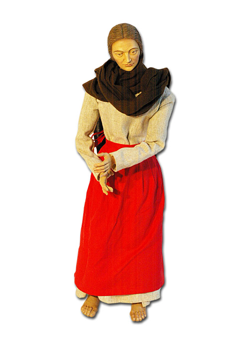 Krippenfigur Hirtenfrau