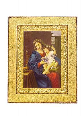 Ikone Kunstdruck: Madonna mit der Traube