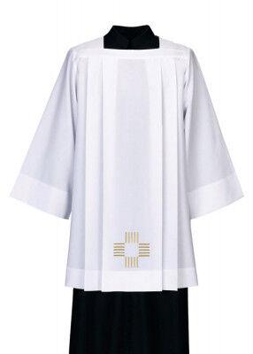 Rochett mit gesticktem Kreuz