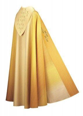 Chormantel mit gestickten Kreuzen aus Goldgarnen