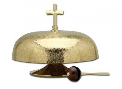 Altargong aus Messing, mit Gongschläger