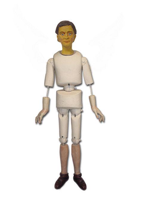 Krippenfigur zum Ankleiden: Schafhirte