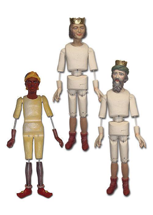 Krippenfiguren unbekleidet: Heilige Drei Könige